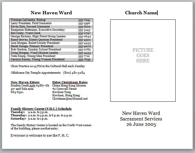 Church Bulletins – Church Bulletin Template