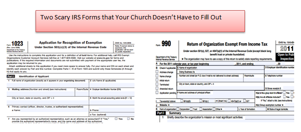 church tax exempt status