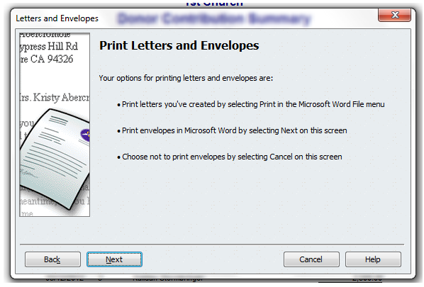 automate letters and envelopes with quickbooks